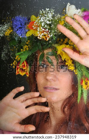 Spring woman - stock photo
