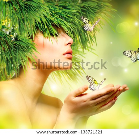 Nature Pictures Spring Nature Spring Woman Beauty