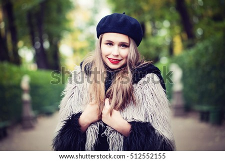 Spring Woman in the Park Outdoors