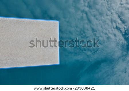 springboard  on  water. - stock photo