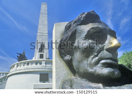 SPRINGFIELD, ILLINOIS - CIRCA 1999: Lincoln Memorial, Springfield, Illinois - stock photo