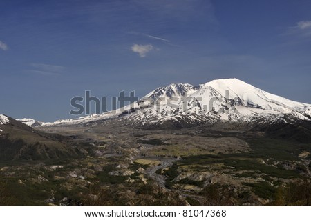 Springtime at Mount Saint Helens - stock photo