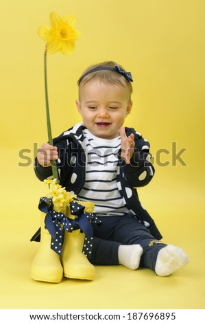 Springtime baby - stock photo