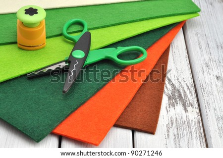 Springtime crafting supplies - stock photo