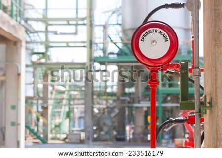 sprinker Alarm and valve fire protection - stock photo