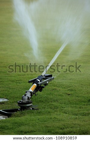 sprinkler of automatic - stock photo