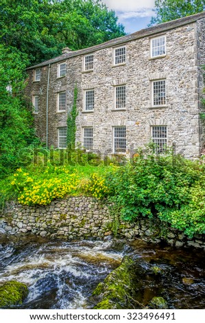 Sprint Mill near Kendal - stock photo