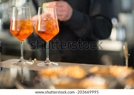Spritz aperitif - stock photo