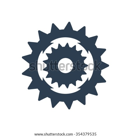 Sprocket bike icon - stock photo