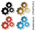 sprocket stickers - stock photo
