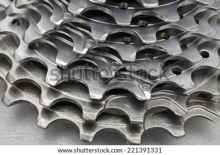 sprocket wheel cycling) - stock photo