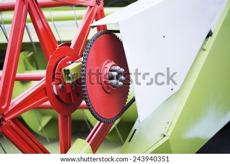 Sprockets Combine in Thailand of Asia - stock photo