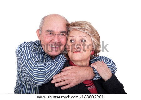 Spry elderly couple - stock photo