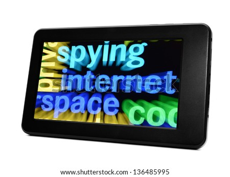 Spying internet - stock photo
