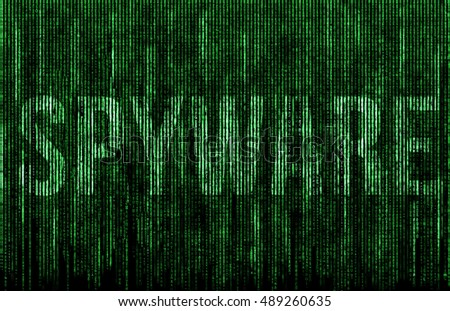 Spyware digital matrix illustration