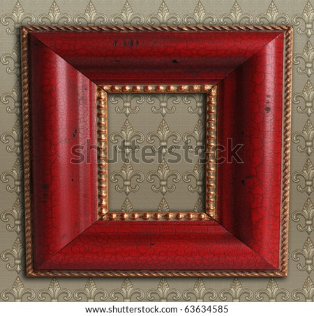 Square antique picture frame. - stock photo