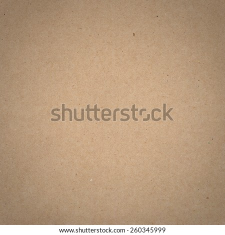 Square background of brown craft paper texture. - stock photo