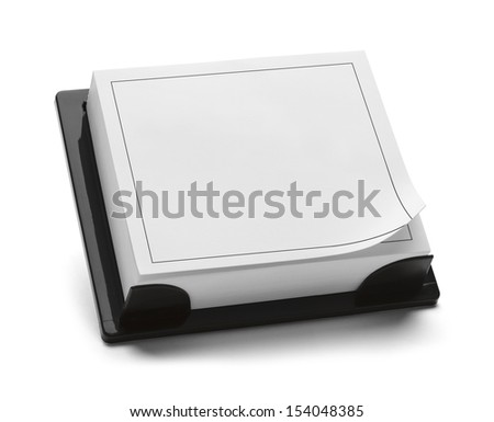 Square Black and White Calendar with Copy Space Isolated on White Background. - stock photo