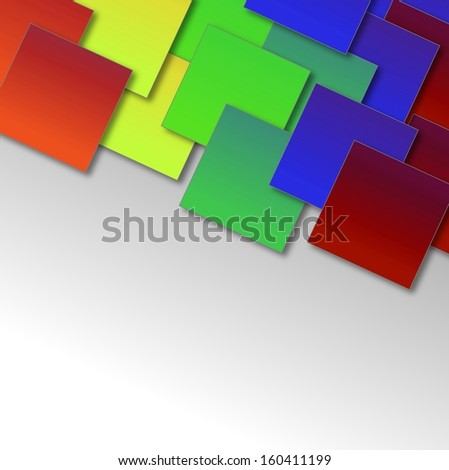 Square blank, colorful background.
