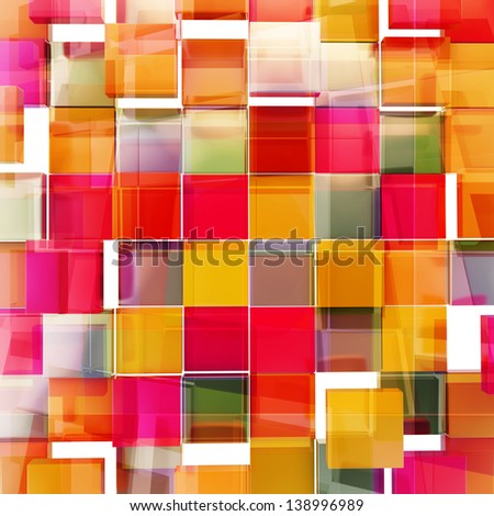 Square block texture abstract orange and purple red background - stock photo