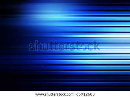 square blue striped decorative background - stock photo