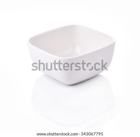 Square Bowl empty on white background - stock photo