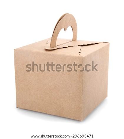 square carton  on a white background. - stock photo