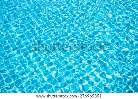 Square ceramic and reflection in swimming pool  - stock photo
