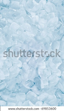 square cool ice background in blue