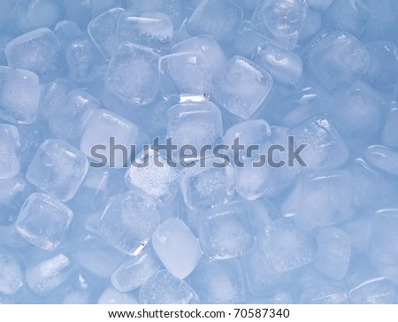 square cool ice background in blue - stock photo