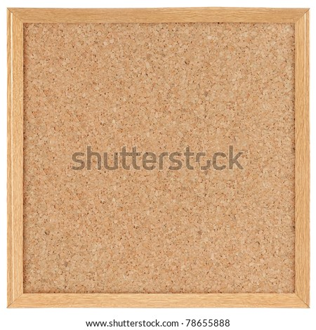 square cork board. isolated over white - stock photo