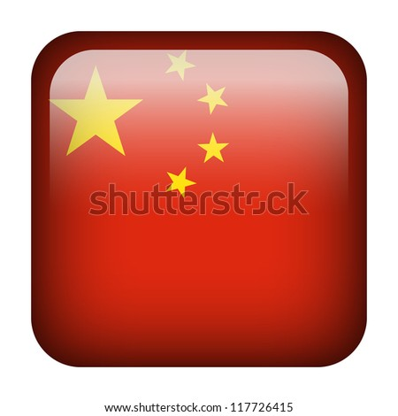 Square flag button series - China