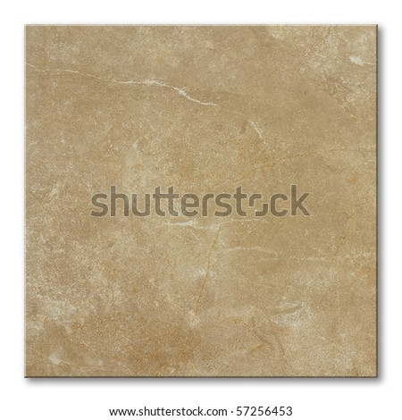 square floor tile with natural stone marble effect - stock photo