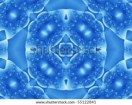 square flower tile in blue