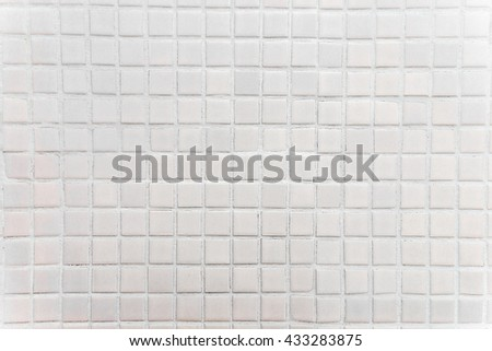 Square form shape mosaic tiles light gray tone texture with filling wall texture background