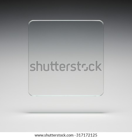 square glass abstract - stock photo