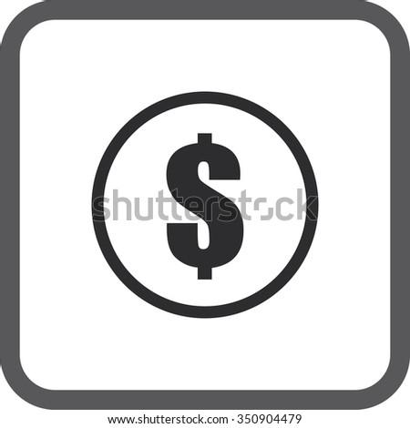 Square icons set money.  - stock photo