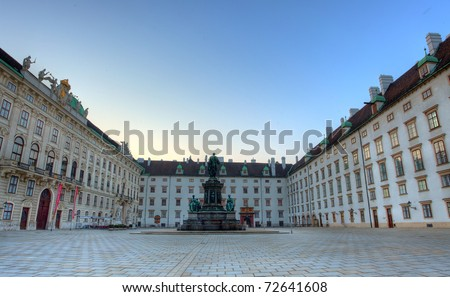 Square in Hofburg, Vienna, Austria - stock photo