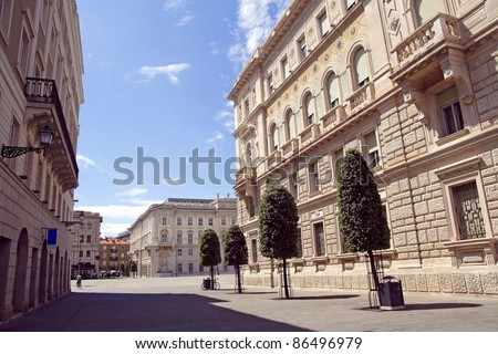 Square in Triest - stock photo