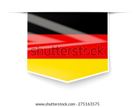 Square label with flag of germany isolated on white - stock photo