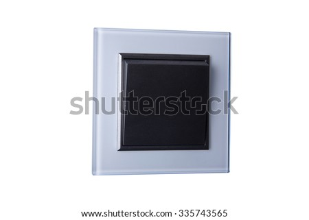 square light switch isolated on white background