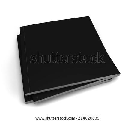 Square magazine. 3d illustration isolated on white background  - stock photo