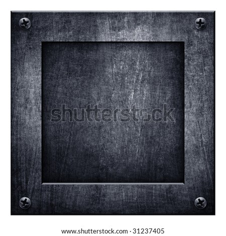square metal background