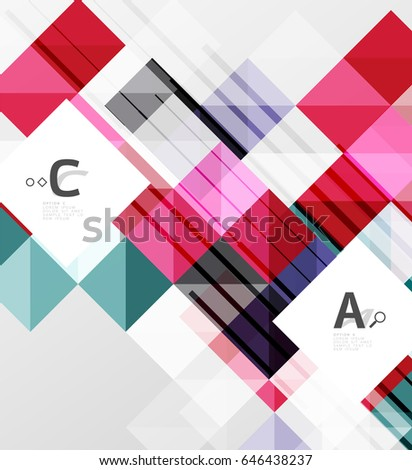 Square modern abstract background letter option stock illustration square modern abstract background with letter option infographics sample text thecheapjerseys Image collections