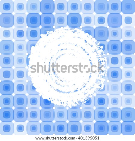 Square mosaic retro blue background. Abstract colorful cover. Design frame. Raster version.  - stock photo