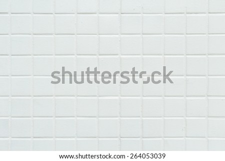 Square old light gray color paint on tile wall background texture, Landscape - stock photo