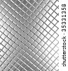Square pattern aluminum background 3d rendered - stock photo