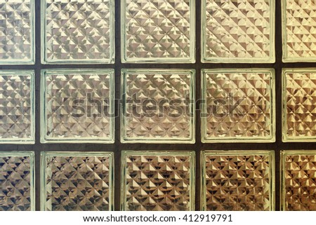 Square pattern glass wallpaper. Pattern glass texture background.