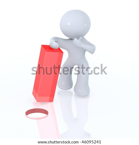 Square Peg in a round hole - stock photo