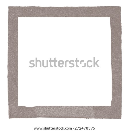 square photo frame of  fiberboard painted gray-brown
